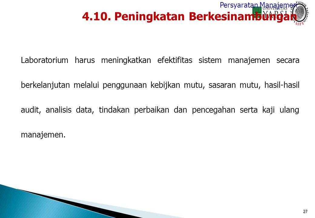 4.10. Peningkatan Berkesinambungan