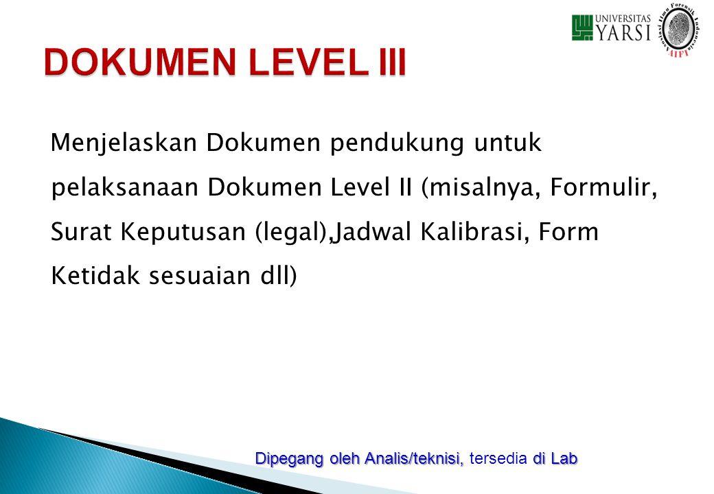 DOKUMEN LEVEL III