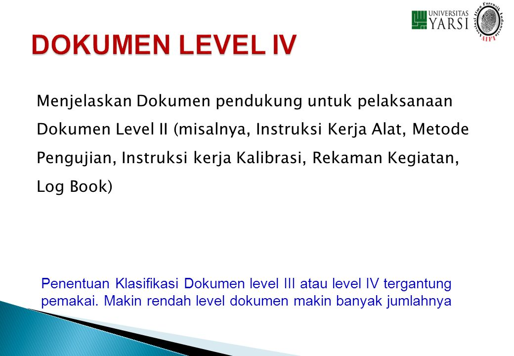 DOKUMEN LEVEL IV