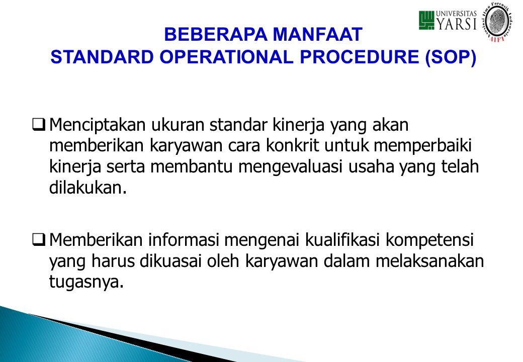 STANDARD OPERATIONAL PROCEDURE (SOP)