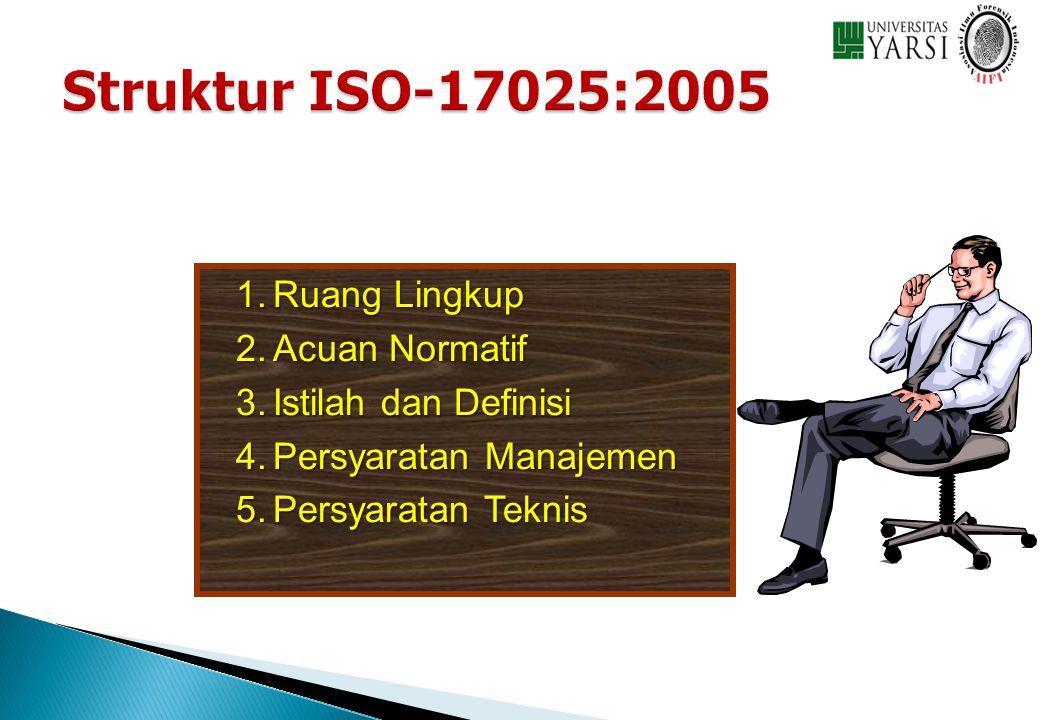 Struktur ISO-17025:2005 Ruang Lingkup Acuan Normatif