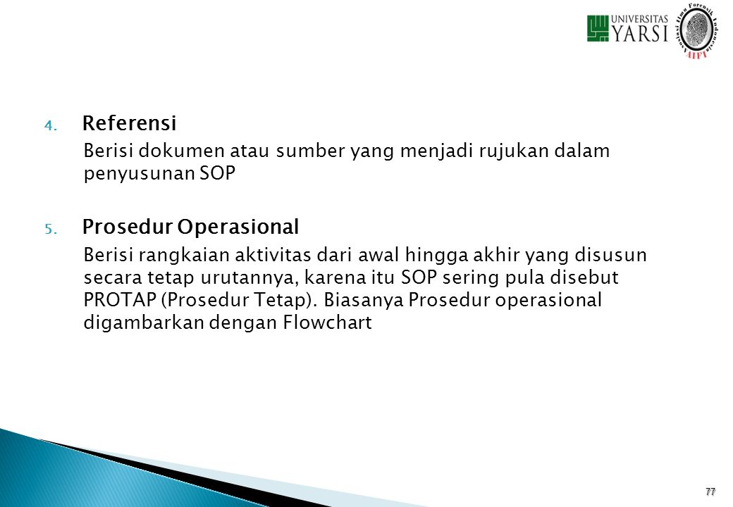 Referensi Prosedur Operasional