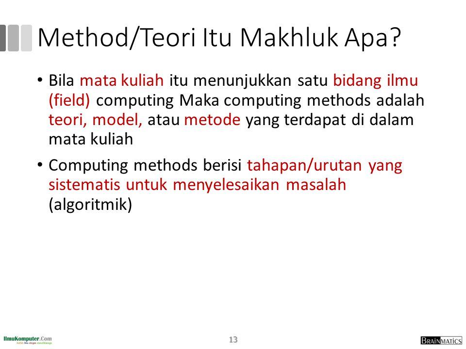 Method/Teori Itu Makhluk Apa