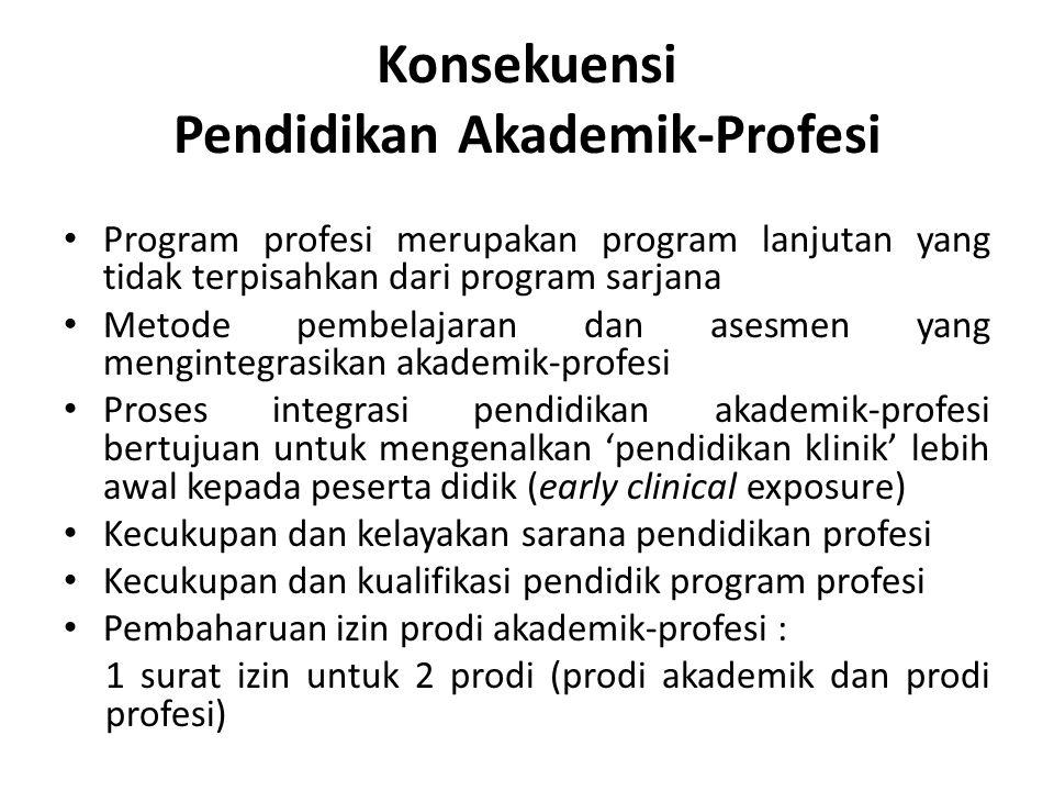 Konsekuensi Pendidikan Akademik-Profesi