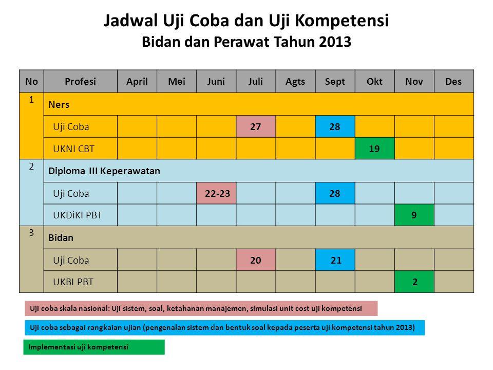 Jadwal Uji Coba dan Uji Kompetensi Bidan dan Perawat Tahun 2013