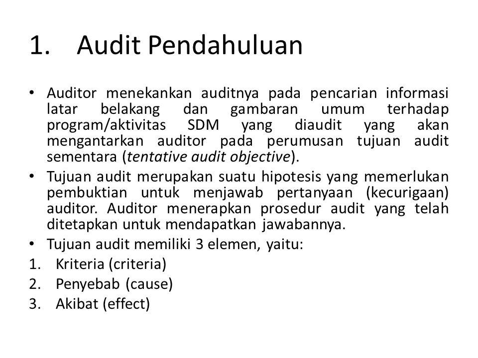 1. Audit Pendahuluan
