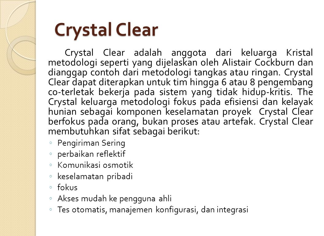 Crystal Clear