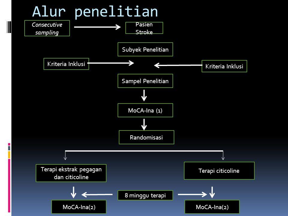 Terapi ekstrak pegagan dan citicoline