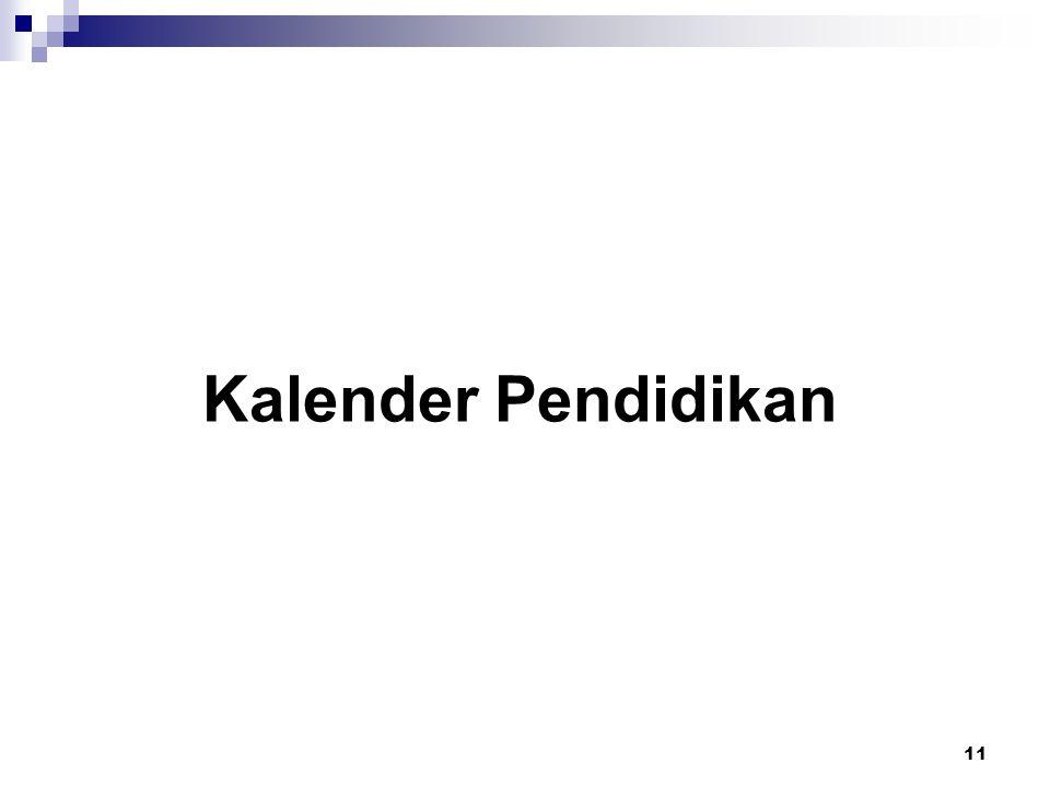 Pola Kalender Pendidikan