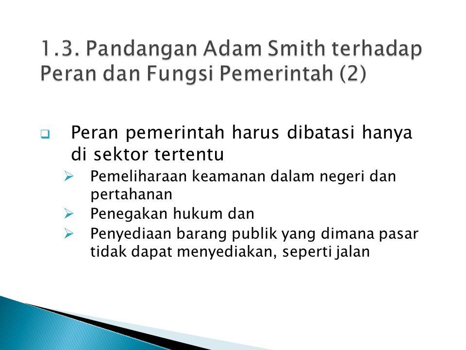 1.3. Pandangan Adam Smith terhadap Peran dan Fungsi Pemerintah (2)