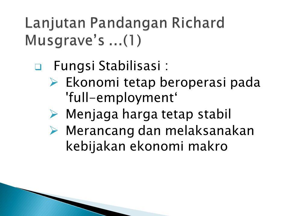 Lanjutan Pandangan Richard Musgrave's ...(1)