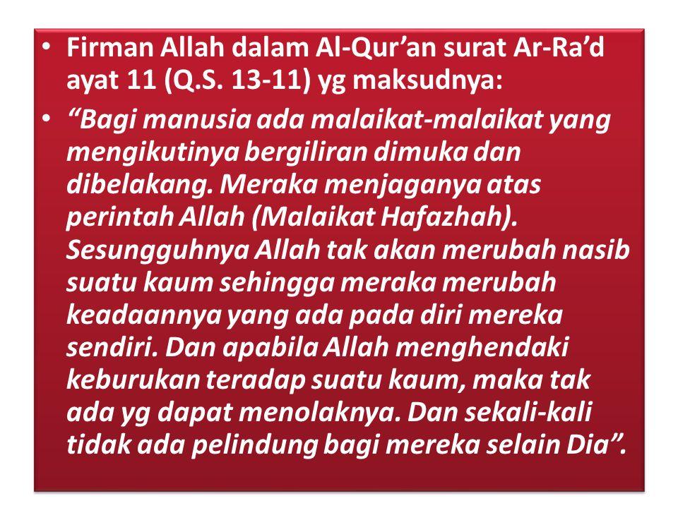 Firman Allah dalam Al-Qur'an surat Ar-Ra'd ayat 11 (Q. S