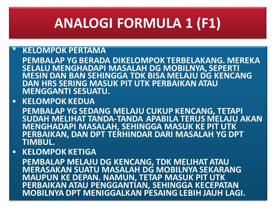 ANALOGI FORMULA 1 (F1) * KELOMPOK PERTAMA