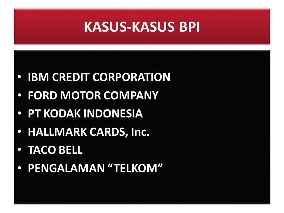 KASUS-KASUS BPI IBM CREDIT CORPORATION FORD MOTOR COMPANY