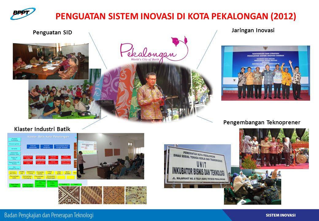 Penguatan Sistem Inovasi DI Kota Pekalongan (2012)