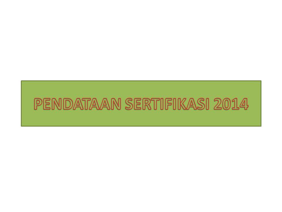 PENDATAAN SERTIFIKASI 2014