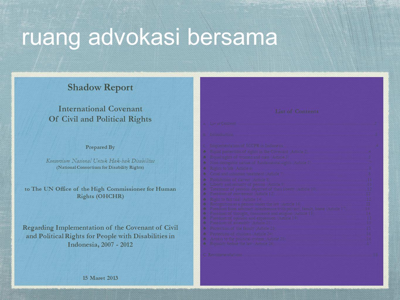 ruang advokasi bersama