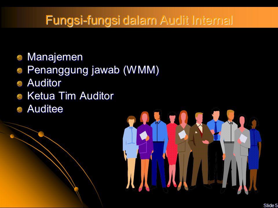 Fungsi-fungsi dalam Audit Internal