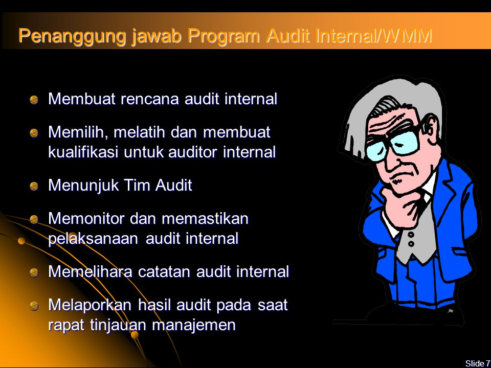 Penanggung jawab Program Audit Internal/WMM