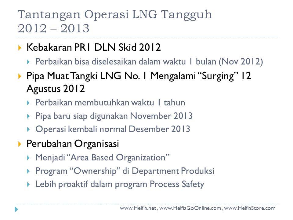 Tantangan Operasi LNG Tangguh 2012 – 2013
