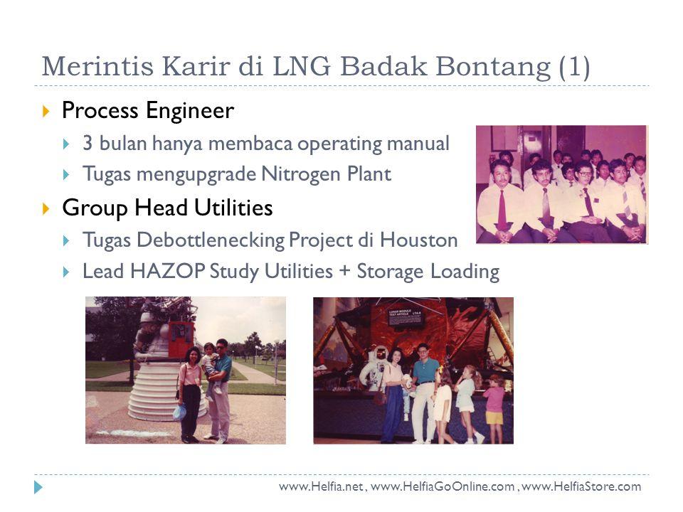 Merintis Karir di LNG Badak Bontang (1)