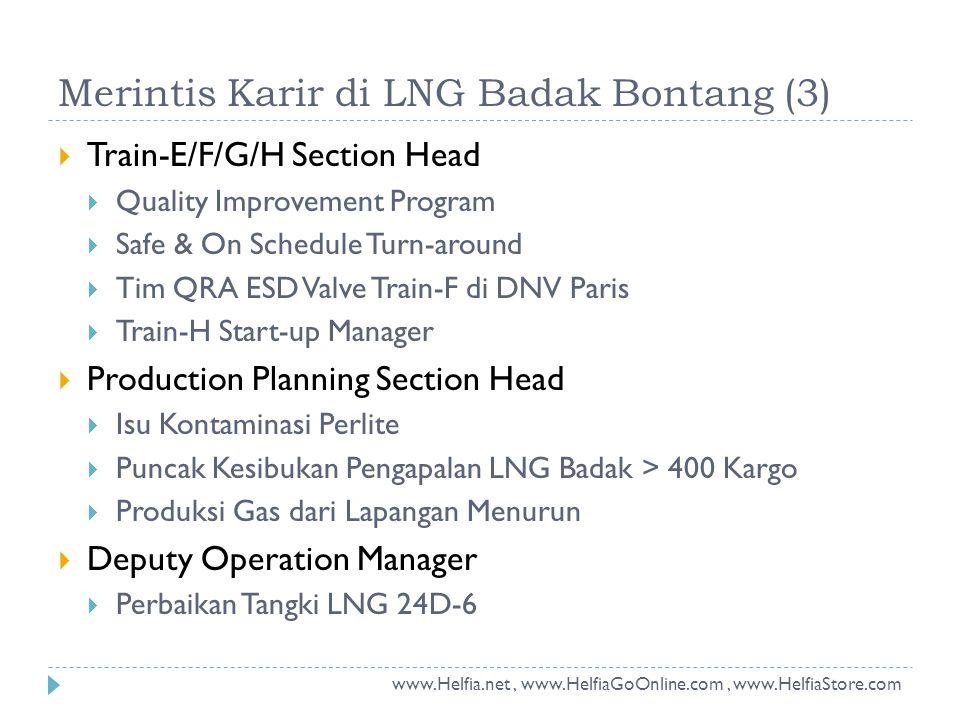 Merintis Karir di LNG Badak Bontang (3)