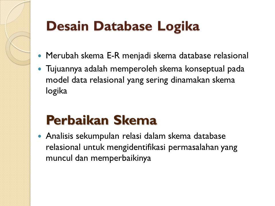 Desain Database Logika