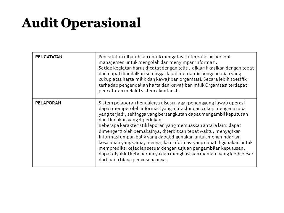 Audit Operasional PENCATATAN