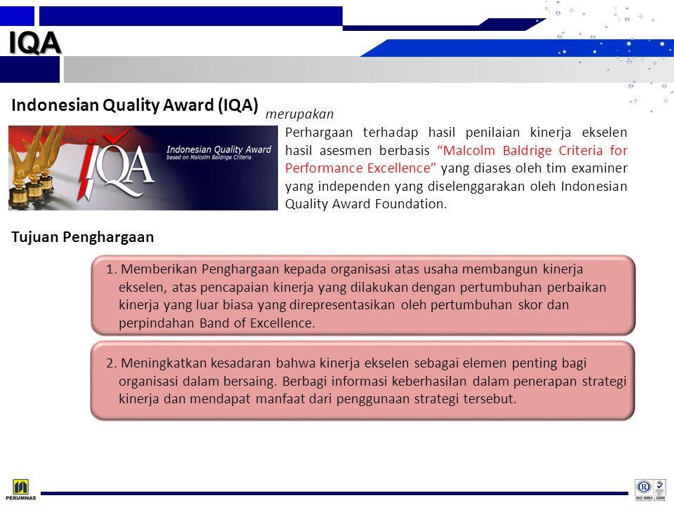 IQA Indonesian Quality Award (IQA) Tujuan Penghargaan merupakan