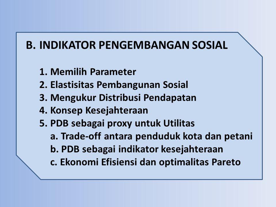 B. INDIKATOR PENGEMBANGAN SOSIAL