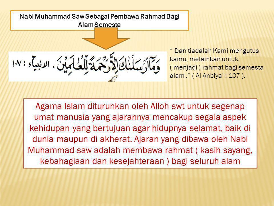 Nabi Muhammad Saw Sebagai Pembawa Rahmad Bagi Alam Semesta