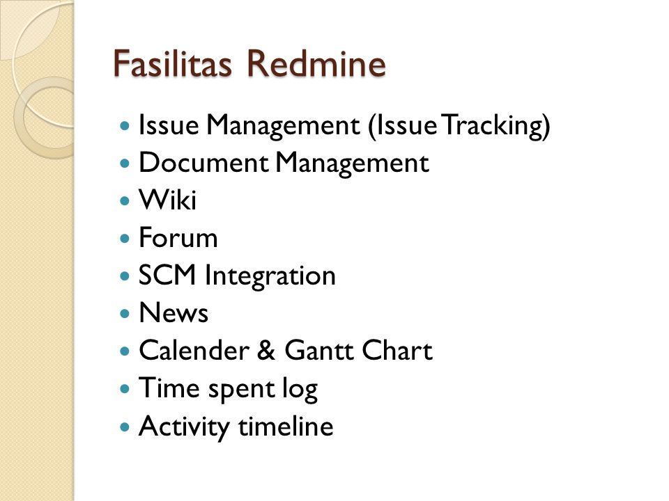 Fasilitas Redmine Issue Management (Issue Tracking)