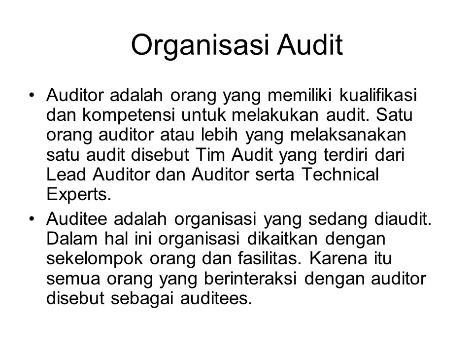 Organisasi Audit