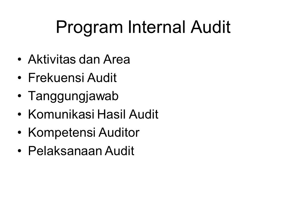 Program Internal Audit