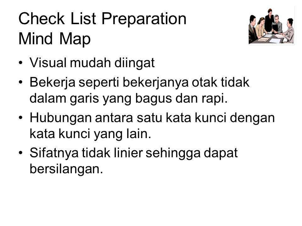 Check List Preparation Mind Map