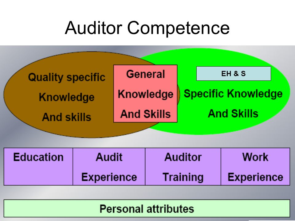 Auditor Competence EH & S