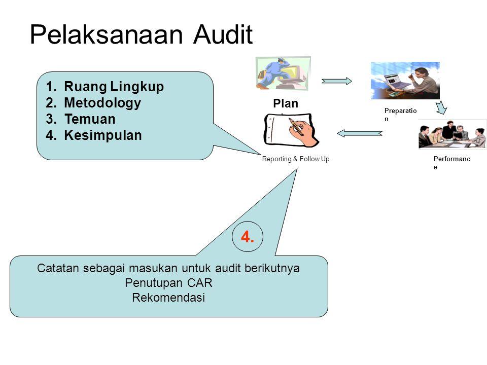 Catatan sebagai masukan untuk audit berikutnya