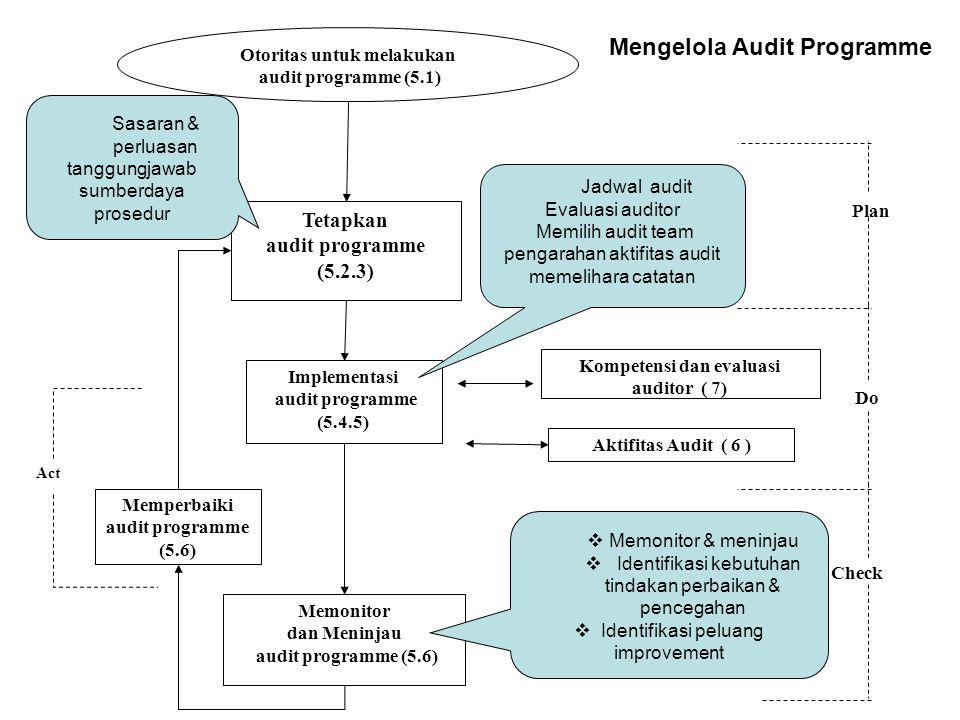 Mengelola Audit Programme