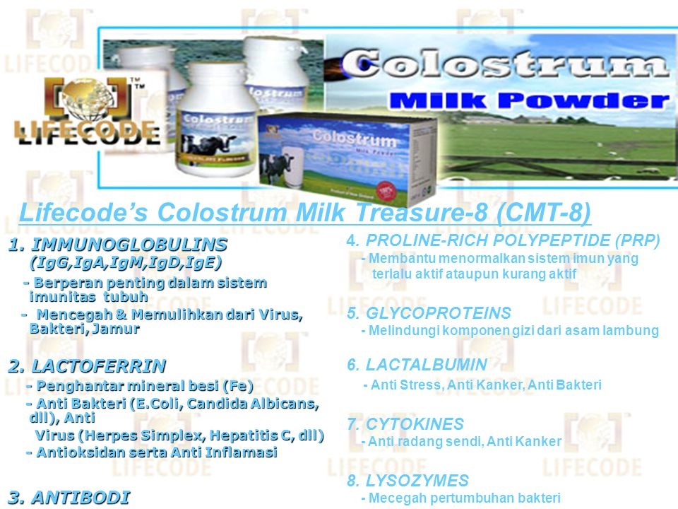 Lifecode's Colostrum Milk Treasure-8 (CMT-8)