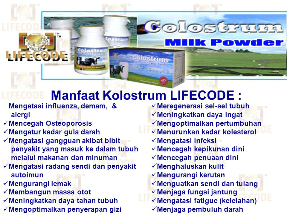 Manfaat Kolostrum LIFECODE :