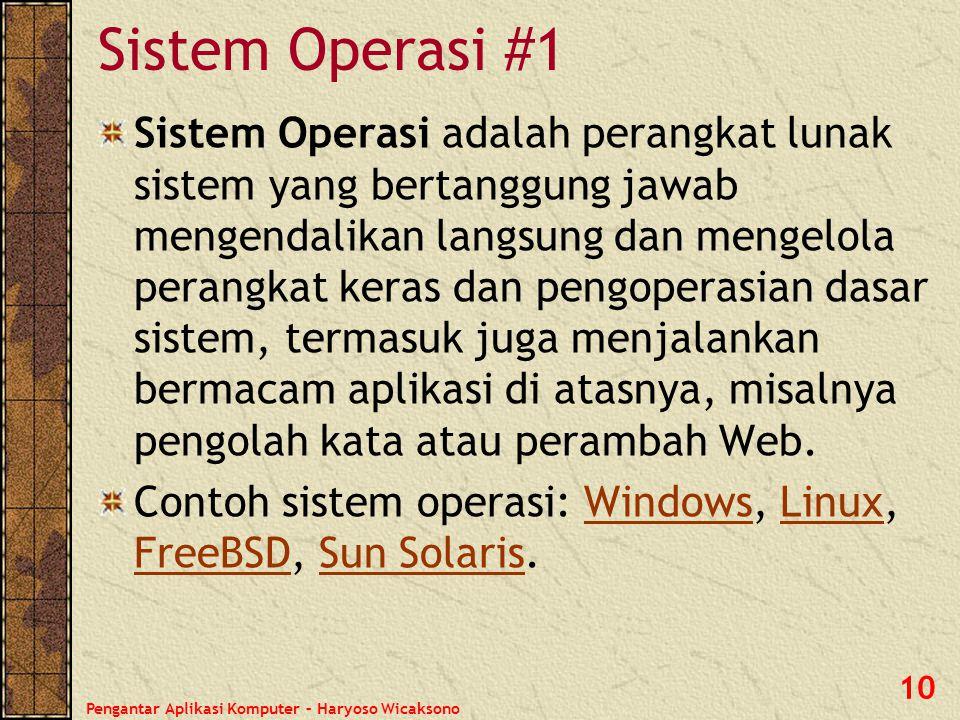 Sistem Operasi #1