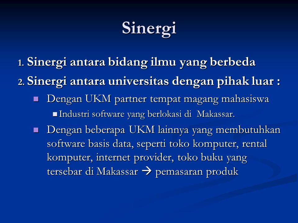 Sinergi Sinergi antara bidang ilmu yang berbeda