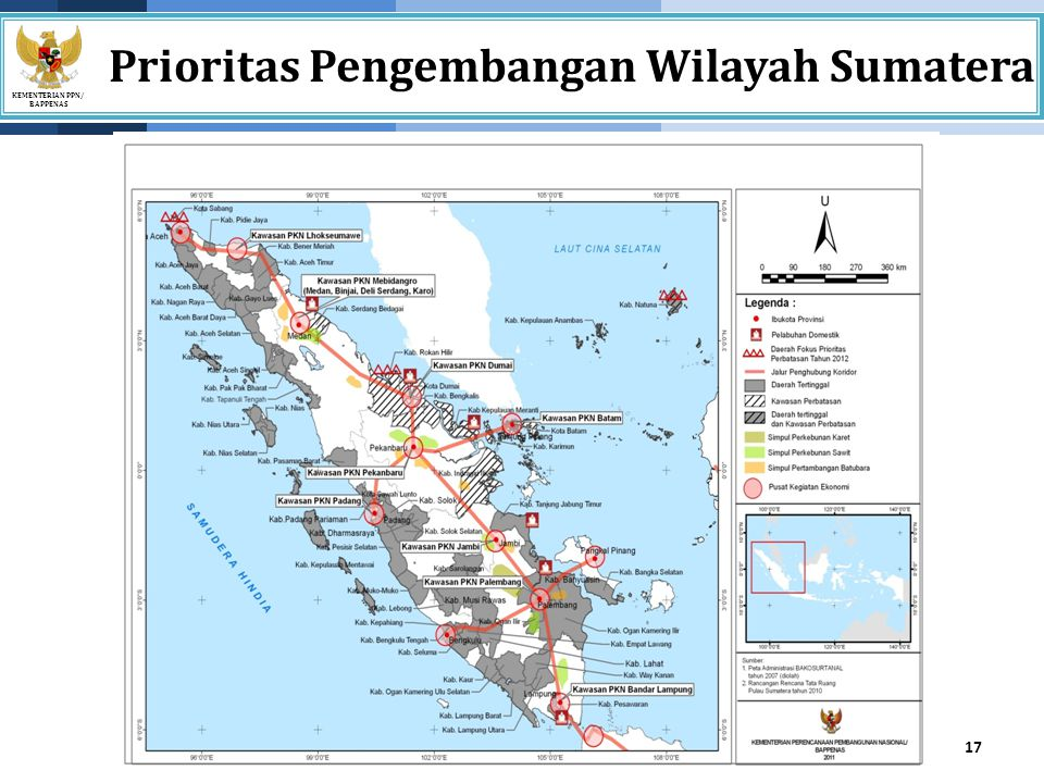 Prioritas Pengembangan Wilayah Sumatera