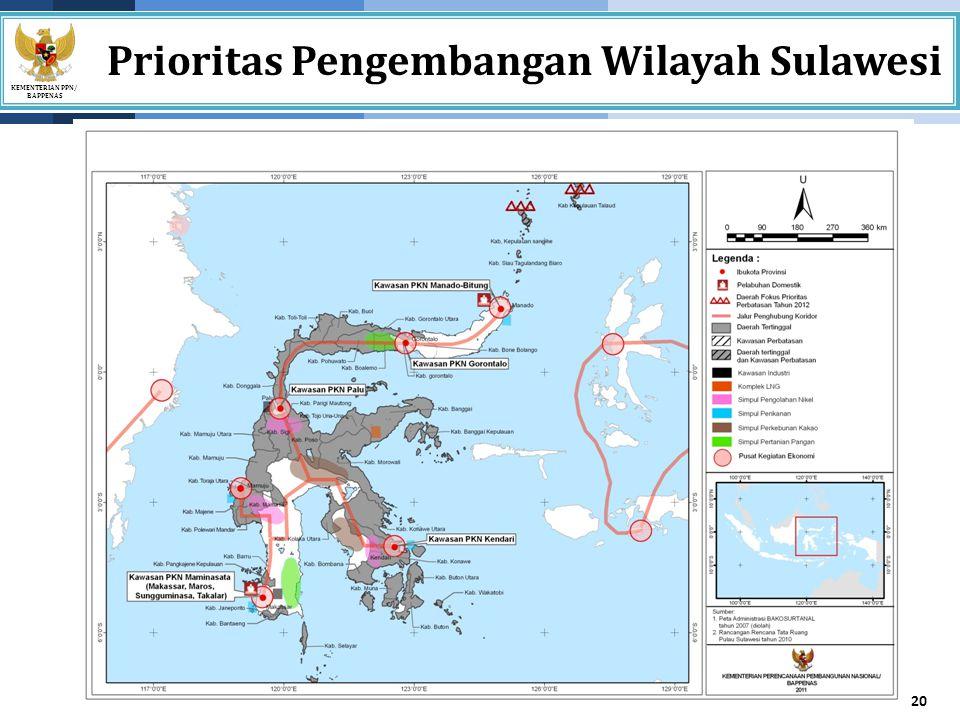 Prioritas Pengembangan Wilayah Sulawesi