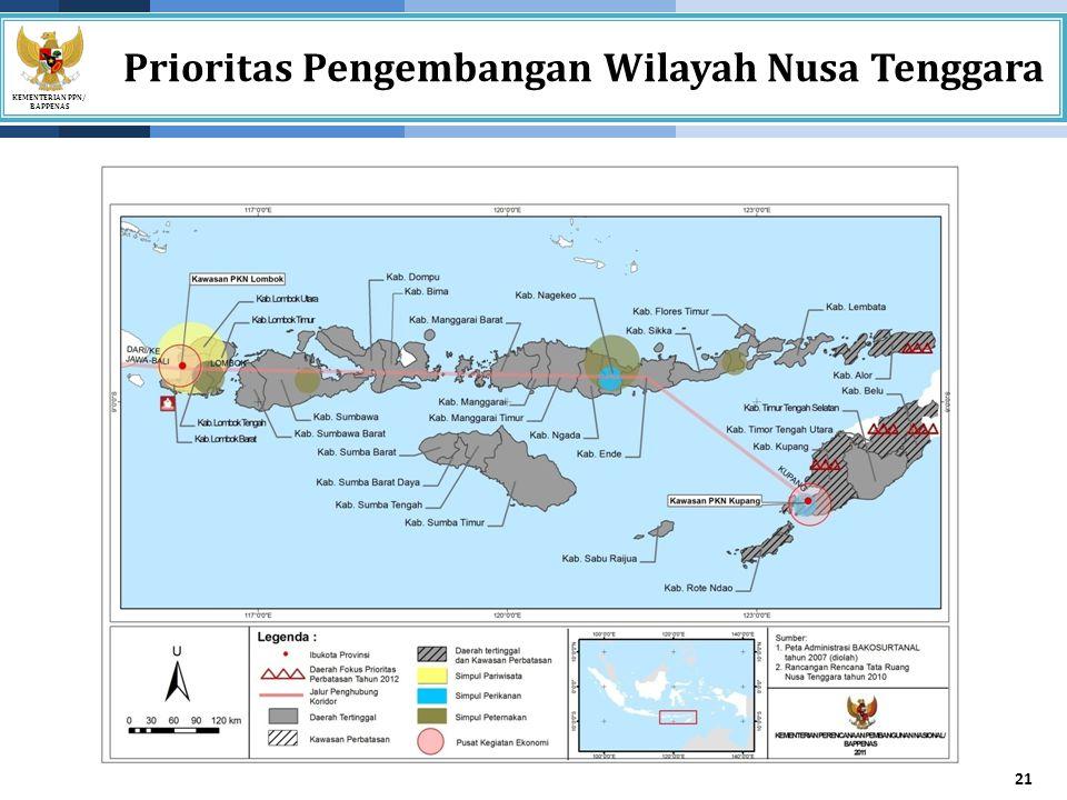 Prioritas Pengembangan Wilayah Nusa Tenggara