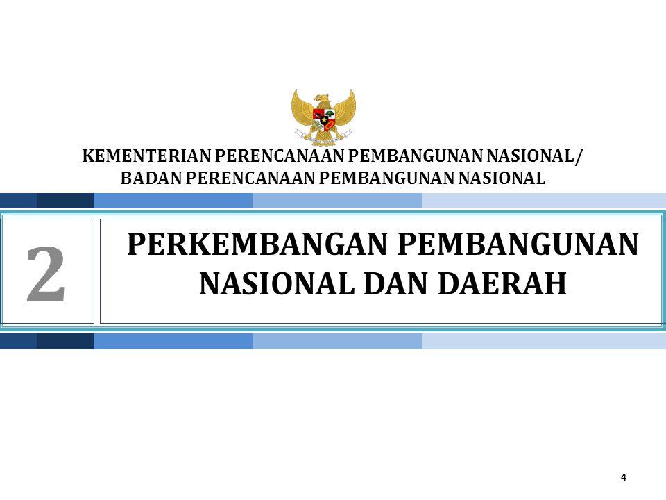 Perkembangan pembangunan NASIONAL DAN DAERAH