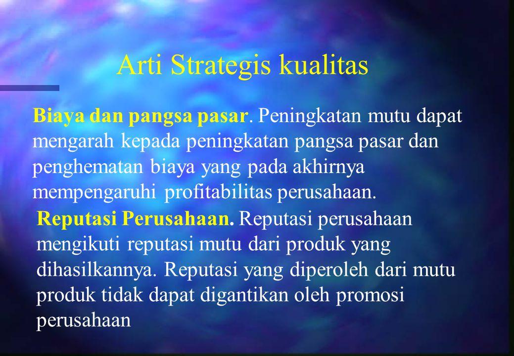 Arti Strategis kualitas