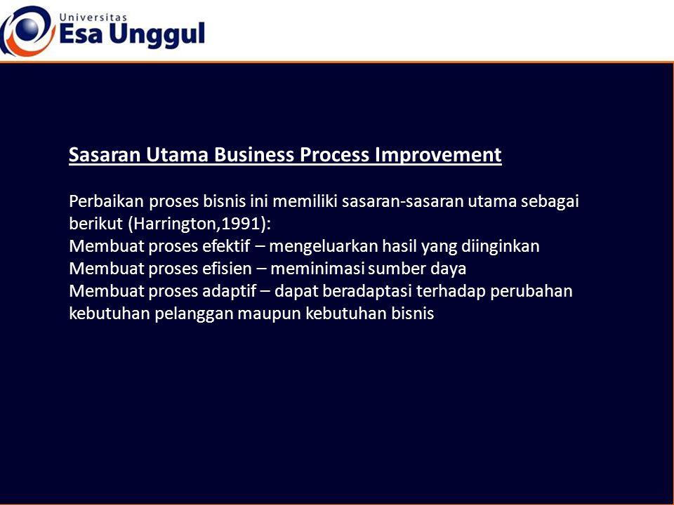 Sasaran Utama Business Process Improvement