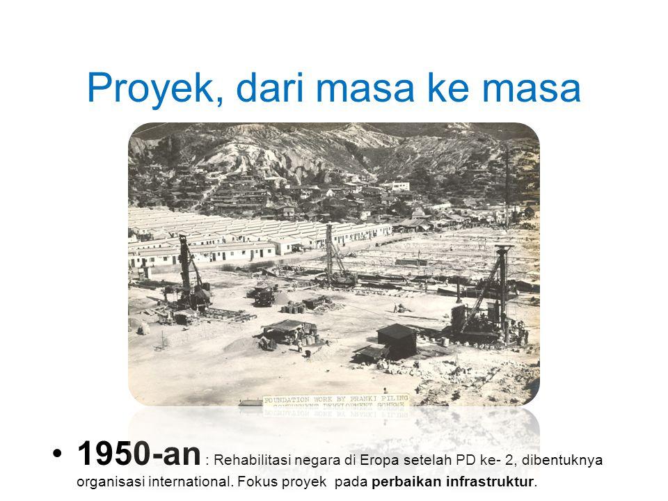 Proyek, dari masa ke masa