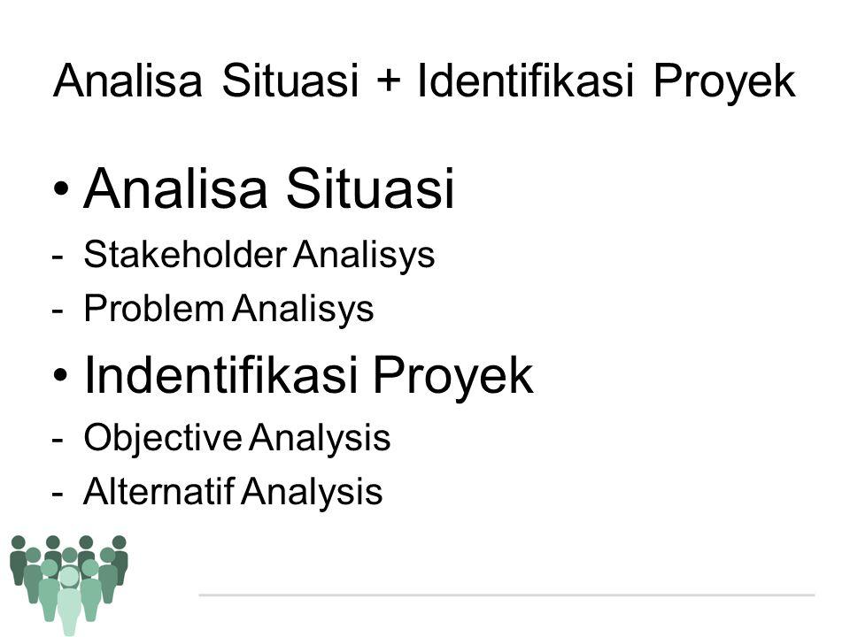 Analisa Situasi + Identifikasi Proyek